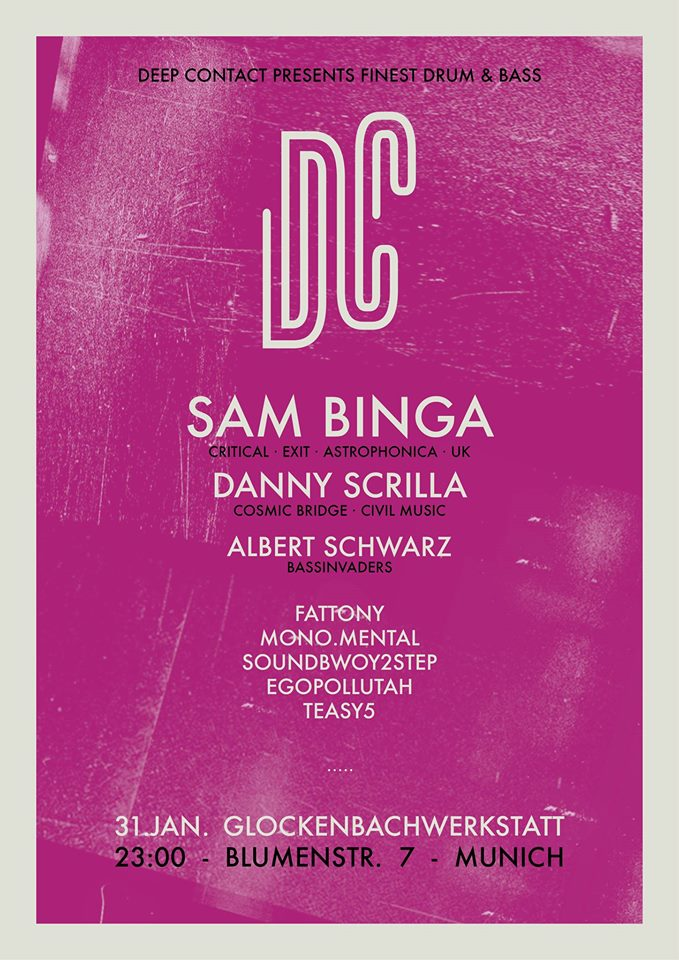 31.01.2015 Deep Contact pres. SAM BINGA